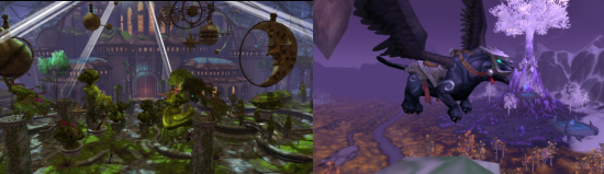 GW2 on the left, WoW on the right